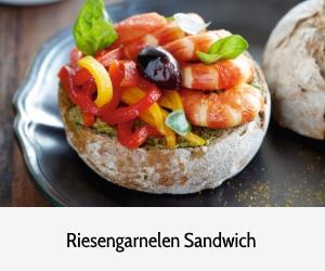 Rezept des Monats Delifrance Riesengarnelen Sandwich