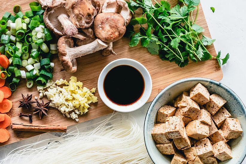 Fleischalternativen Gemüse Tofu