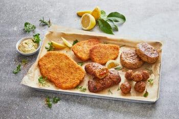 Vegane Schnitzel,Frikadellen, Hackbällchen