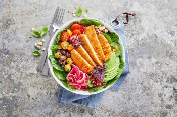 Vegane Schnitzel Bowl
