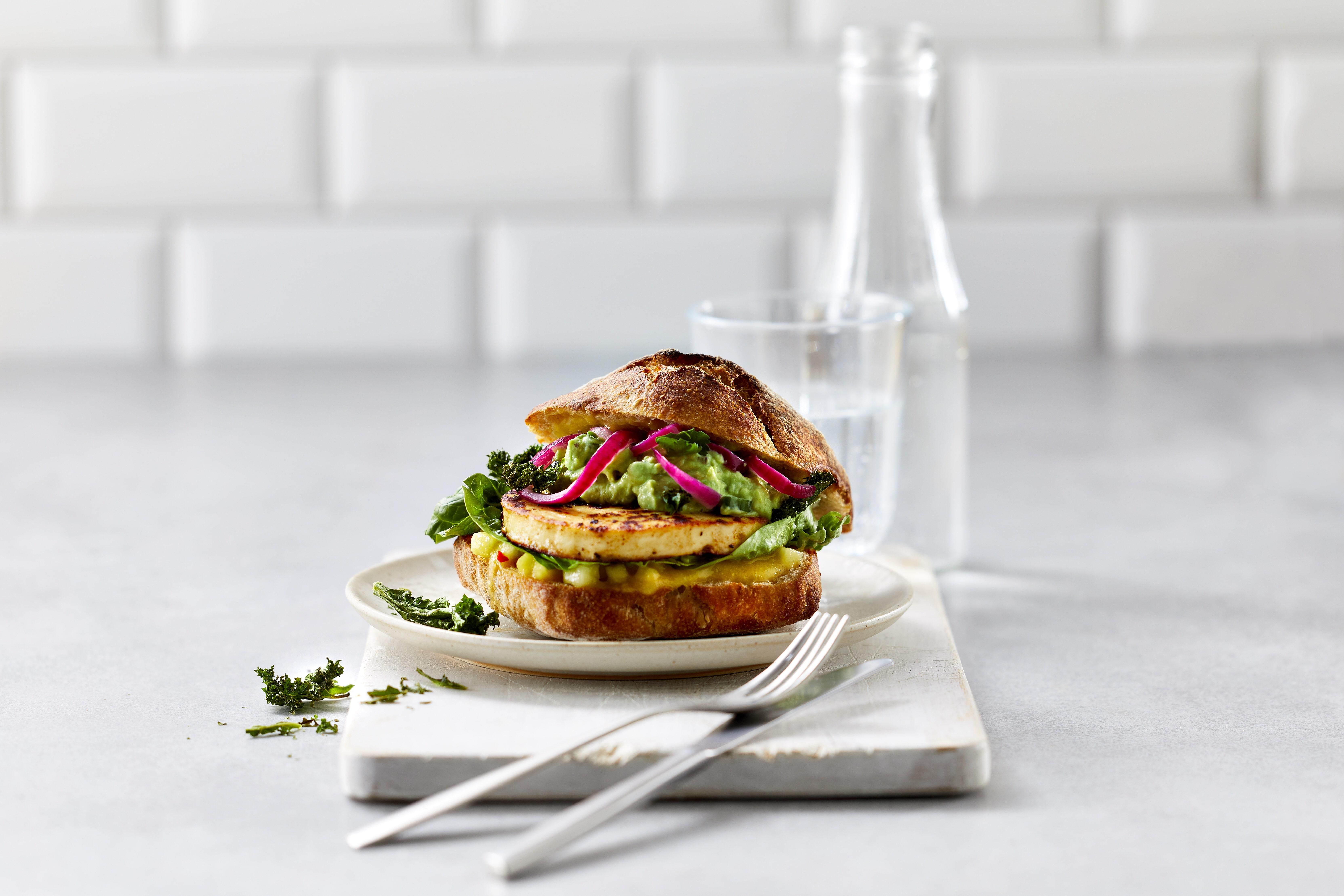 Grillkäse Burger Salat Arla