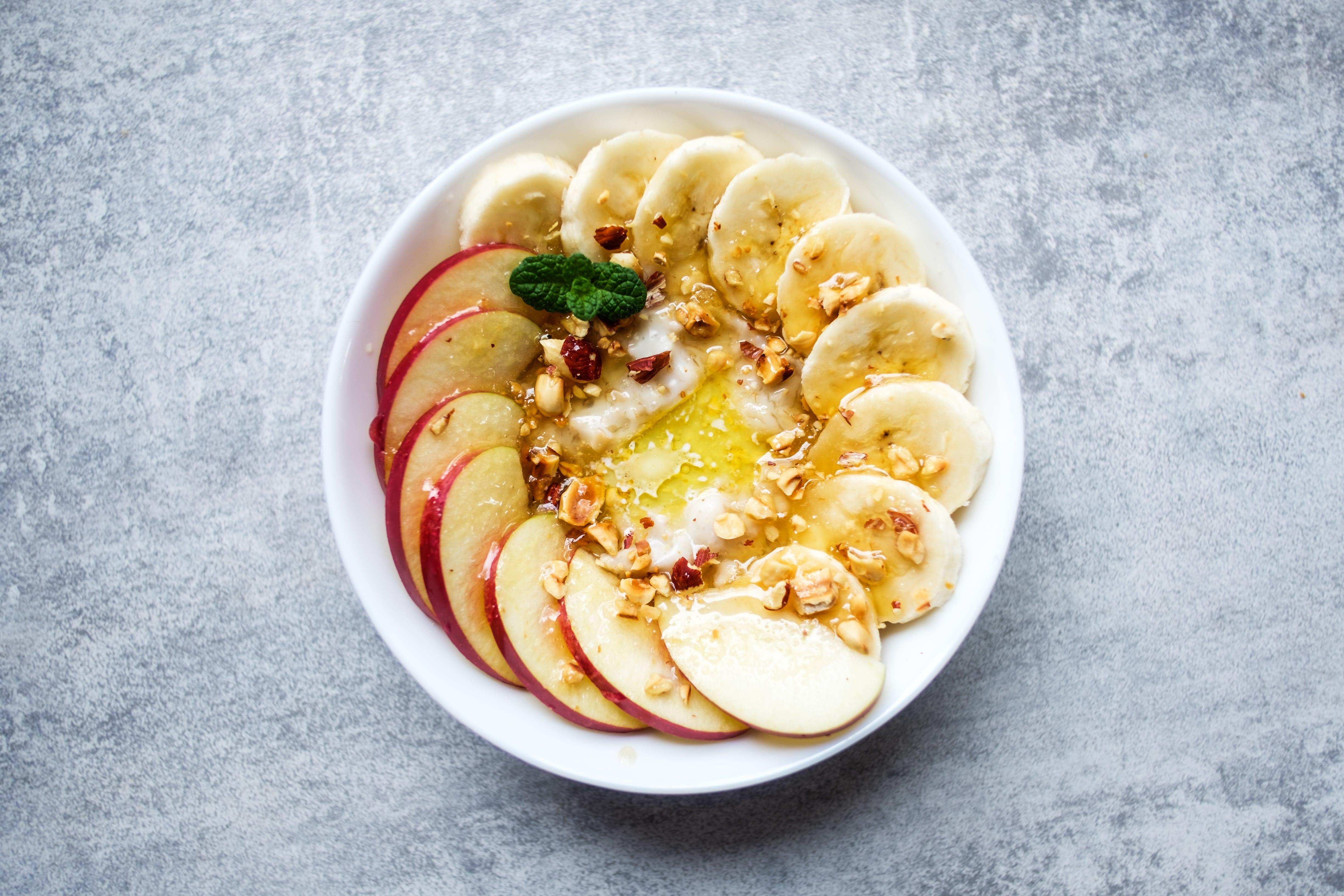Apfel Banene Smoothie Bowl