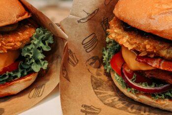 Burger nachhaltig verpackt