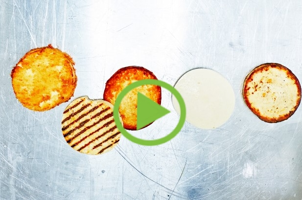 Grillkäse Burgerpatty Video Bild