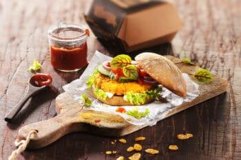 pflanzlicher Burger Chicken Style