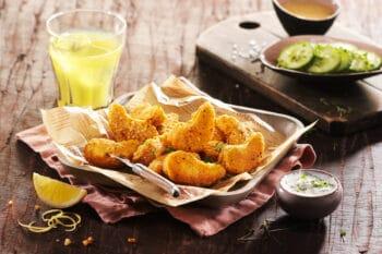 Vegane pflanzliche Nuggets Chicken Style