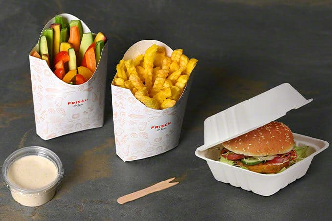 POmmes Burger To Go Verpackungen