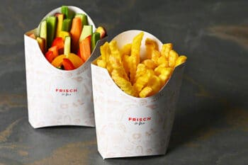 Pommes To Go Tüte Verpackung