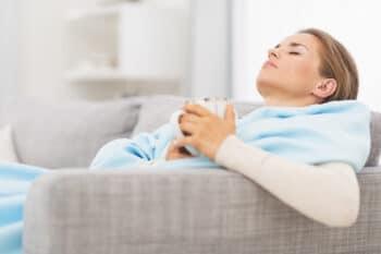 Entspannung Teetrinken Frau