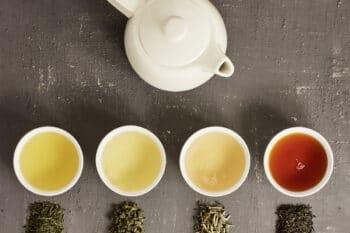 4 Teesorten Tekanne